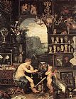 Jan the elder Brueghel The Sense of Sight [detail 1] painting